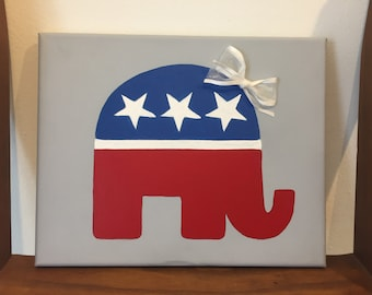 Republican Elephant Painting