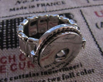 silver ring, elastic, for pressure 18 / 20mm
