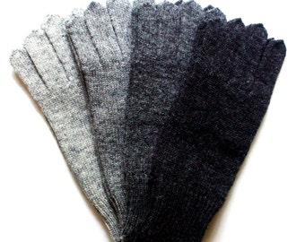 Men's knitted lambswool Gloves/winter gloves/woolen mittens/gray/black/dark blue