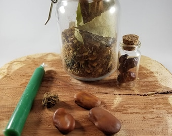 Money Drawing Kit- Witch's Bottle: Conjure, Rootwork, Mojo, Hoodoo, Manifestation, Abundance, Witch