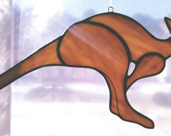 Stained glass Kangaroo