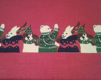 Frieze fabric for Christmas decoration