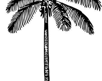 coconut palm vinyl decal/sticker