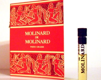 Vintage 1990s Molinard de Molinard 0.03 oz Eau de Toilette Sample Vial on Card PERFUME