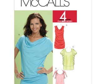 OUT of PRINT McCall's Pattern M6034 Misses' Tunics