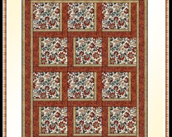 Downloadable Bold Blocks Quilt Pattern Easy 3 Yard design