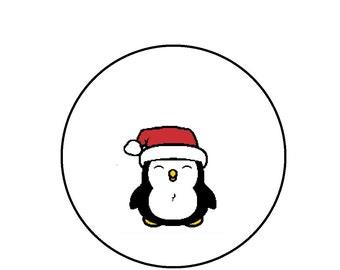 Christmas Cross Stitch Pattern - Penguin Holiday CrossStitch Pattern PDF