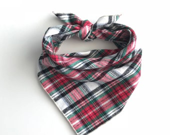 Plaid Dog Bandana - Apple Cider // Dog bandana // Pet Bandana // Flannel Dog Bandana // Winter Dog Bandana