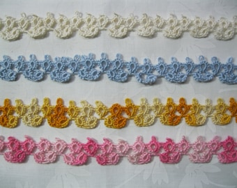 One Yard of Vintage Cotton Tatted Lace (#2)