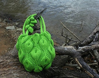 CROCHET PATTERN - New Embossed Crochet Technique: Embossed Leaves Purse
