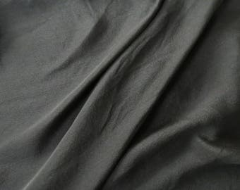 Black Pure Silk Fabric By The Yard
