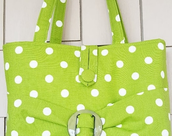 Kelly Green Polka Dot Purse