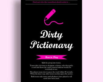 Dirty Pictionary Bachelorette Game Download Bridal Shower Games Bachelorette Party Games Hen Party Games Bachelorette Games