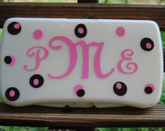 Personalized Baby wipe case - diaper wipe case travel wipes