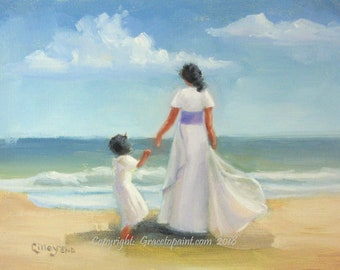 Mother and Child...Original Oil Painting by Maresa Lilley, SND