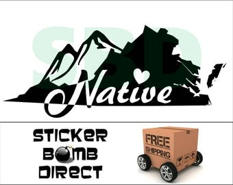 Virginia Decal Native VA Is For Lovers Style Sticker