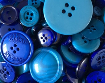 100g of Blue Buttons