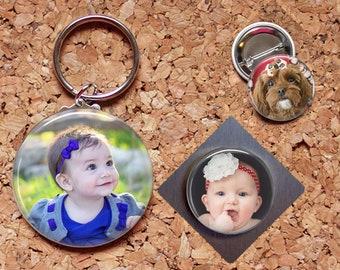 CUSTOM Magnet, Key Chain, Pin, Refrigerator Magnet, Key Ring, Brooch Pin, Fridge Magnet, Key Holder, Stocking Stuffer, Inexpensive Gift