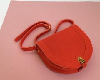 La Lisette Red leather fanny pack, waistbag, fannypack, hipbag, bumbag
