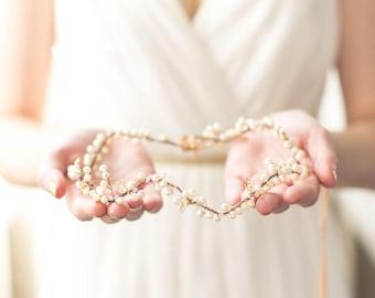 Autumn Pearl Bridal Hair Vine, Crown Headpiece, Hair Vine, Halo in Gold, Rose Gold or Silver