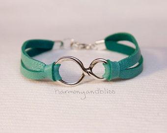 Infinity sign bracelet, infinity bracelet, bff jewelry, friendship jewelry, anniversary gift, forever bracelet, infinite charm, figure 8