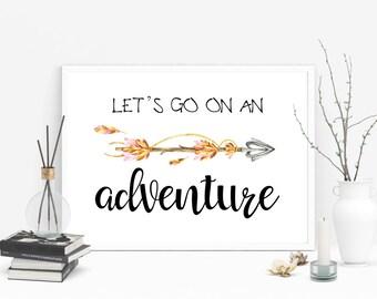 Lets go on an Adventure digital art print