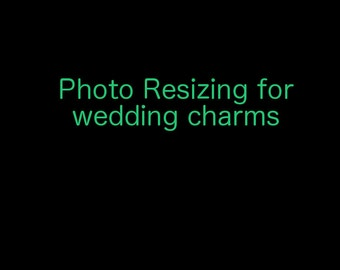 Photo sizing for Wedding Bouquet Charms