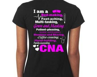 Cna Shirt Certified Nursing Assistant Shirt Personalized