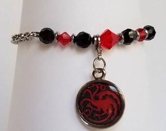 Game of Thrones inspired bracelet, Targaryen sigil