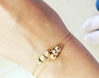 Gold bracelets, Bracelet set, Layered bracelets, Gold beaded bracelets, Boho bracelets, Gold bracelet set, Dainty bracelet, Nuggets bracelet