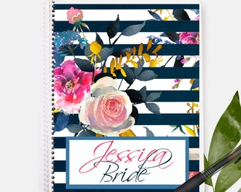 Bride Notebook | Status Gift | Bridal Shower | Bachelorette Party | Floral Notebook | Personalized Gift | Custom Gift | Wedding Gift