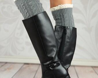 Gray Wheat Boot Cuffs
