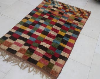 53×91 Inches , RARE CARPET!Vintage red carpet,Beautiful red rug,kurdish persian carpet, trible rug,shiraz carpet,