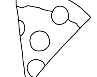 Coloring Page: Pizza Slice