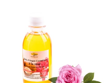 Cosmetic argan oil with rose
