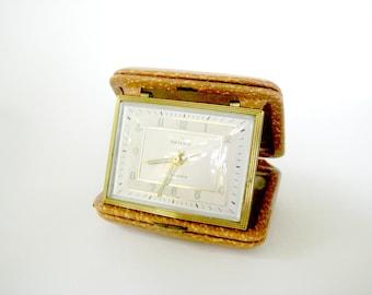 Vintage Travel Alarm Clock, Vintage Rensie Alarm Clock, 1960's Travel Alarm Clock, Rensie Alarm Clock, Travel Accessory, Vintage Alarm Clock