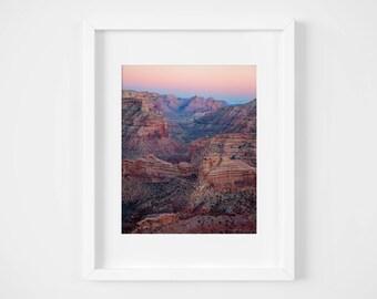 Southwestern desert photo print - Utah landscape art - Colorful wall decor - Large framed art - Natural earth tones - Nature photography