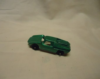 Vintage Tootsietoy Green Fiat Abarth Toy Car, collectable, USA