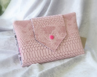 Faux leather travel jewelry pouch