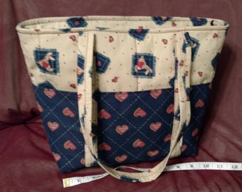 Home made Tote, Vintage, Bunnies and Bears