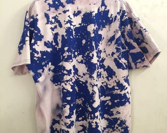 Blue Bleach Tie-Dye Shirt