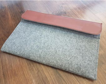 """Laptop case 11.1"""" 12"""" 13.3"""" 14"""" 15"""", laptop sleeve, leather laptop cover, macbook case, dell sleeve, personalization, Your text on leather"""