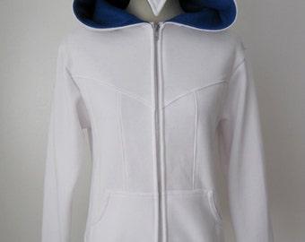 Assassin Beaked Hoodie Cosplay Costume Jacket (Blue Hood)