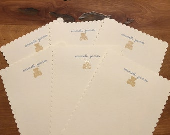Personalized baby notecards
