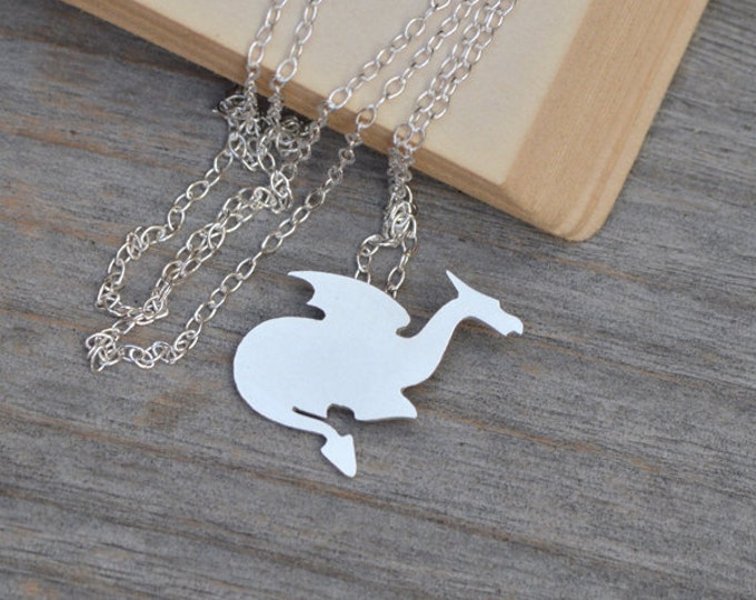 Crouching Dragon Necklace In Sterling Silver, Handmade In The UK By Huiyi Tan