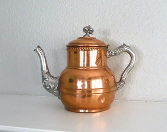 Vintage Copper Coffee Pot or Tea pot