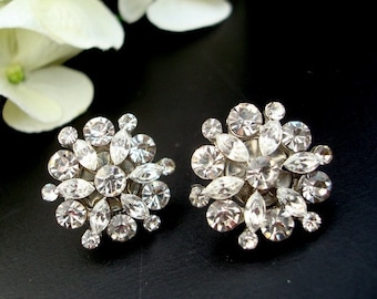 Bridal Earrings, Bridal Rhinestone Earrings, Stud, Bridal Statement Earrings, Wedding Rhinestone Earrings, crystal earrings, ALEXANDRA