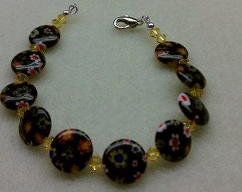 Millefiore Beaded Bracelet