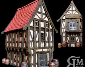Medieval house 7 (ech 30mm resin kit)