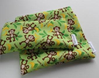 Monkeys : Snack Bags, Sandwich Bags, Washable, Reusable, Eco Friendly, Minimalist